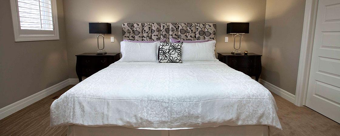 bedroom in Harbour Landing townhouse